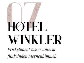 12 spektakuläre Hotel-Badewannen in den Alpen: #7 Designhotel Winkler - Prickelndes Wasser unterm funkelnden Sternenhimmel. #mountainhideaways