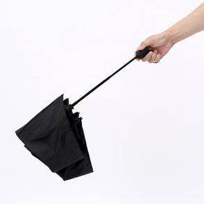 ボタンを押すと傘が閉じる