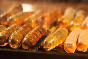 Original Nuremberg grilled sausage from the beechwood fire