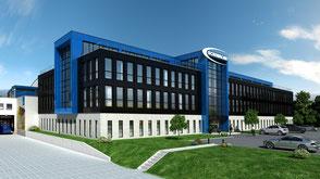 geplanter Anbau an Geschäftsräume der Firma Schwalbe in Reichshof
