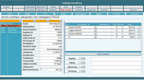 Auftrag, Rechnung Betriebsdatenerfassung