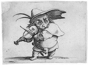 Jacques Callot, Burlesker Violinist. [Public domain]