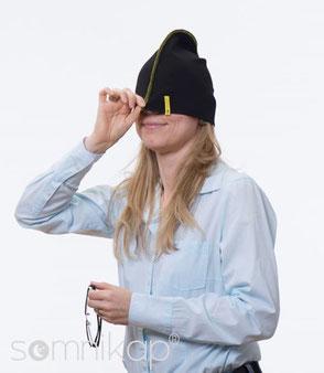 Die Mütze zur Linderung bei Migräne und Erkältung
