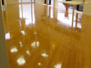 美容院様 床の洗浄とワックス仕上げ