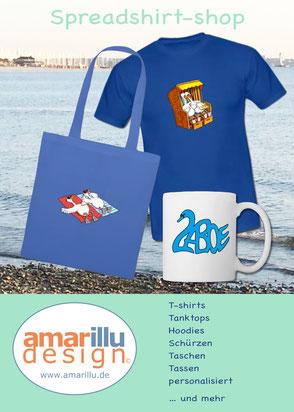 www.amarillu.de, Unsere Motive als T-shirt, Hoodie, Tanktop, Tasche, Tasse....