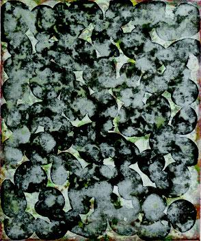 18.22.30 2018, Pigment, Acryl, Nessel, 30 x 25 cm