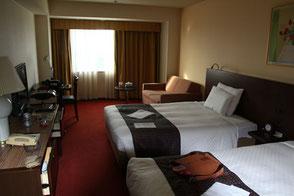 大きなベッドはいいね 部屋も清潔