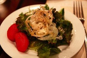 自家菜園の野菜のパリパリサラダ