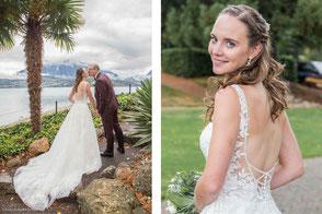 Brautpaar küsst sich am Kap Kaliakra  in Bulgarien