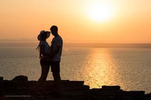 Silhouetten Foto , Paarshooting am Schwarzen Meer