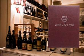 Carta dei vini ristorante Victoria by Conti Borbone