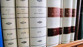 Rilegatura riviste giuridiche in pergamena
