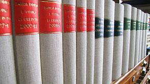 legatura riviste giuridiche legatoria Conti Borbone