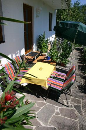 Gemütliche, private Terrasse, Ferienwohnung 3