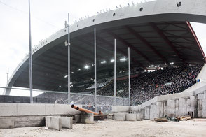 Stadio Friuli under costruction