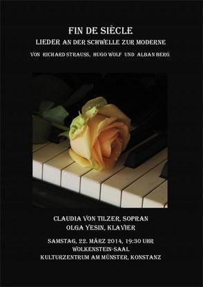 Fin de Siècle Lieder an der Schwelle zur Moderne