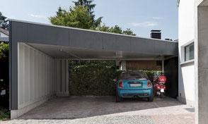 Carport T. Freiburg Schwarzwald storz.architektur Holzbauweise