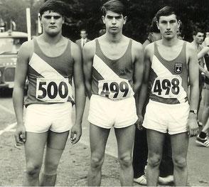 Bild v.l. Hans Peter, Wolfgang Stenzel (verstorben) und Gerhard Boschert (27.08.1967)