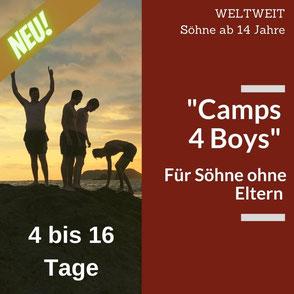 Sommerurlaub ohne Eltern für Jungen ab 14 Jahre.