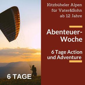 """""""Helden der Berge"""" - erlebnisreiche Rundreise durch die Kitzbühler Alpen für Vater und Sohn  ab 12 Jahre"""