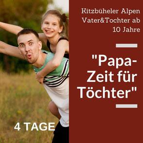 Ein Papa nimmt sich Zeit für die Tochter. Ein Urlaub für Vater und Tochter in Kitzbühel.