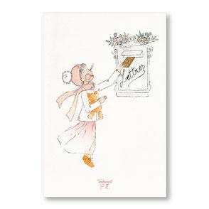 tendrement fé illustration papeterie bohème carte lettre au père noël collection joyeux noël