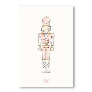 Tendrement Fé - illustration papeterie bohème carte casse-noisette aquarelle collection noël