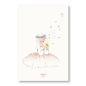 tendrement fé illustration papeterie bohème carte voeux étoilés bonne année meilleurs voeux aquarelle collection joyeux noël