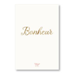 tendrement fé illustration papeterie bohème carte pailletée bonheur paillettes or collection les mots pailletés carterie poétique