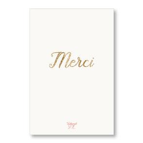 tendrement fé illustration papeterie bohème carte pailletée merci collection les mots pailletés carterie poétique