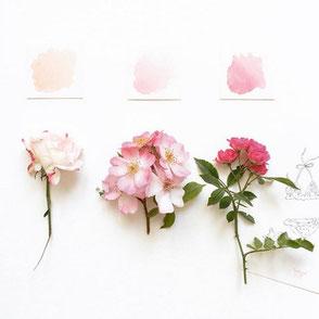 Tendrement Fé - illustration papeterie bohème aquarelle fleurs carte faire-part naissance mariage anniversaire poétique
