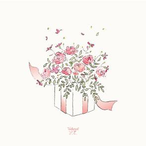 tendrement fé illustration papeterie bohème écoresponsable cartes illustrées aquarelle carterie joyeux anniversaire cadeau poétique fleurs
