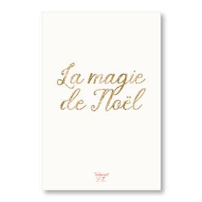tendrement fé illustration papeterie bohème carte pailletée la magie de Noël collection les mots pailletés carterie poétique
