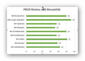 MD MOTIVTEST: Anteil der neun Mentalitäten