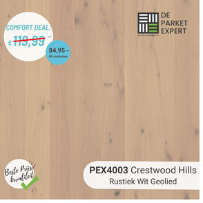 PEX4003 Crestwood Hills Rustiek Wit Geolied