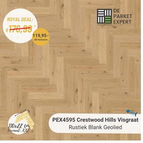 PEX4595 Crestwood Hills Visgraat Rustiek Blank