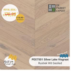 PEX7501H Silver Lake Rustiek Wit Geolied Hongaars Punt