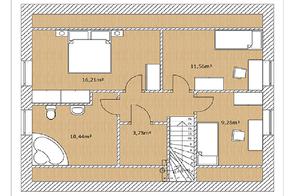Grundriss Malmö 130 Obergeschoss von Berg