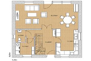 Grundriss Plan Erdgeschoss Nordkap 110