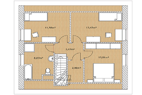 Planansicht Modell Nordkap 110 Obergescoss