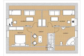 Grundriss Holzhaus Malmö 145 von Berg