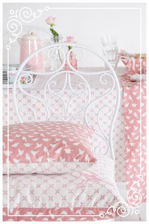 Blossom zartes rosa Kissen Stuhl Geschirr Gläser Deko Brakel Dekoration Clayre & Eef