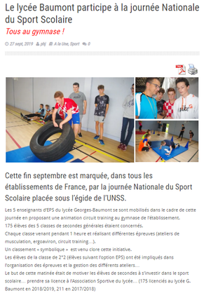 Article du 27 Septembre 2019