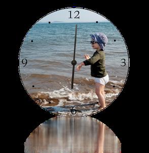 Horloge murale Alu. Diamètre 20cm.