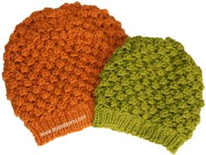 Cómo tejer una boina caida en dos agujas o palitos (knitted slouchy beret tutorial)