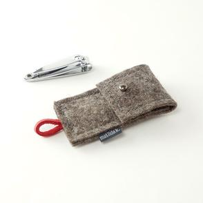 Ökologisches Brillenetui aus filz zum binden