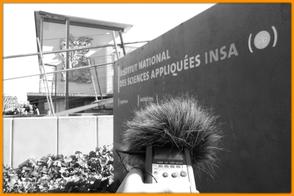 H4N devant l'INSA Strasbourg - Du son pour changer