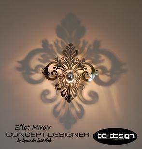 applique murale effet miroir luminaire design applique. Black Bedroom Furniture Sets. Home Design Ideas