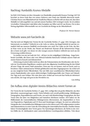 Artikel über www.zeit-fuer-berlin.de in den Mitteilungen des Vereins für die Geschichte Berlin. Inhalt.s.