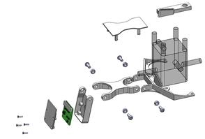 Explosionsdarstellung Kamerahalterung für Ultimaker 3D-Drucker